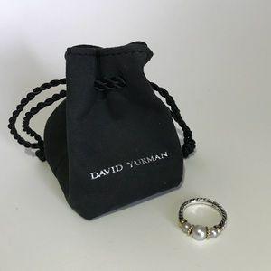 David Yurman Tri-Pearl Cable Ring